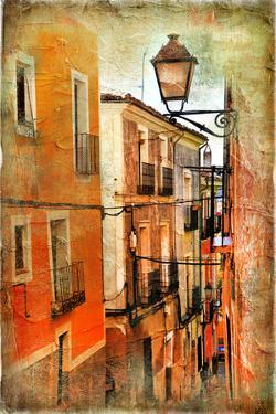 Old Pictorial Streets of Ancient Town of Spain - Artistic Picture by Maugli-l