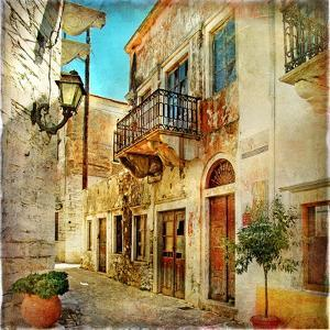 Old Pictorial Streets Of Greece - Artistic Picture by Maugli-l