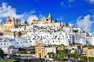 Panorama of Ostuni Beautiful White Town in Puglia, Italy by Maugli-l