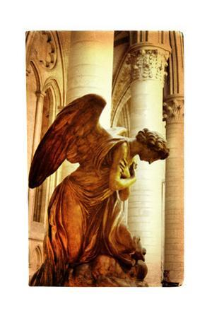 Praying Angel - Artistic Picture In Retro Style by Maugli-l