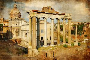 Roman Forums - Picture in Retro Style by Maugli-l