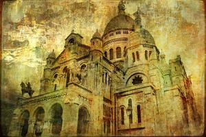 Sacre Coeur - Artwork In Painting Style by Maugli-l