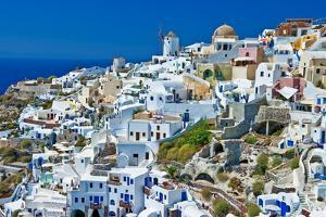 Santorini - View of Oia Town by Maugli-l