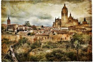 Segovia - Medieval City Of Spain - Artistic Retro Styled Picture by Maugli-l