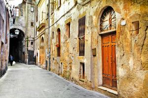 Streets of Old Tuscany, Italy by Maugli-l