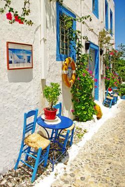 Traditional Greece Series - Street  Tavernas by Maugli-l