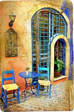 Traditional  Streets Ofgreece - Artistic Series by Maugli-l