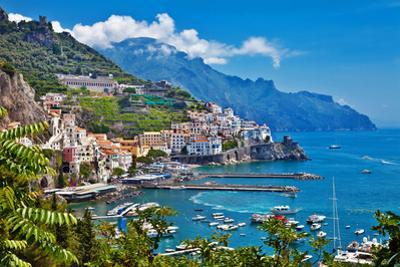 Travel in Italy Series - View of Beautiful Amalfi by Maugli-l