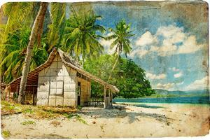 Tropical Bungalow-Retro Styled Picture by Maugli-l