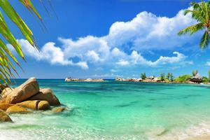 Tropical Paradise - Seychelles Islands, Panoramic View by Maugli-l