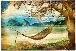 Tropical Scene- Artwork In Painting Style by Maugli-l