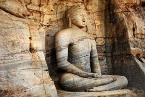 Unique Monolith Buddha Statue in Polonnaruwa Temple - Medieval Capital of Ceylon,,Unesco World Heri by Maugli-l