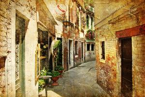 Venetian Streets - Artwork In Painting Style by Maugli-l