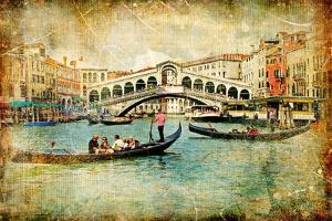 Venice - Great Italian Landmarks Vintage Series by Maugli-l