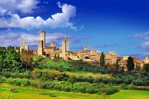 View of  San Gimignano - Medieval Town of Toscana, Italy by Maugli-l
