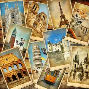 Vintage Collage - European Travel by Maugli-l