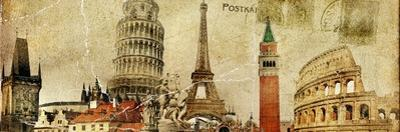 Vintage Postal Card - European Holidays by Maugli-l