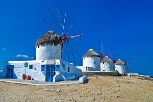 Windmills of Sunny Mykonos (Greece, Cyclades) by Maugli-l