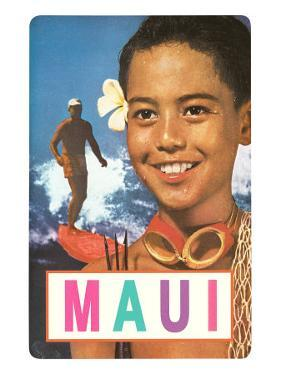 Maui, Surfer and Diving Boy
