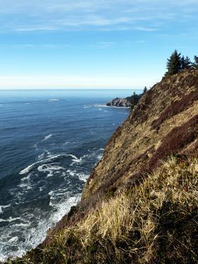 Looking North from Neahkahnie Mountain Up the Oregon Coastline Toward Cannon Beach Oregon by Maureen Eversgerd