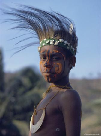 Portrait of a Boy from Gulf, Papua New Guinea, Pacific