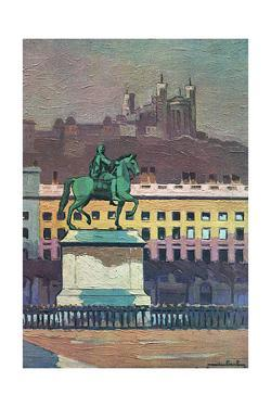 Lyon, Place Bellecour by Maurice Barbey