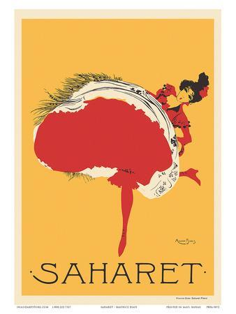 Saharet - Dance Performance Advertisement, c.1902