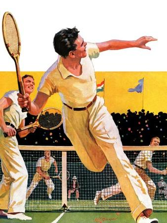 """""""Doubles Tennis Match,""""September 5, 1936"""