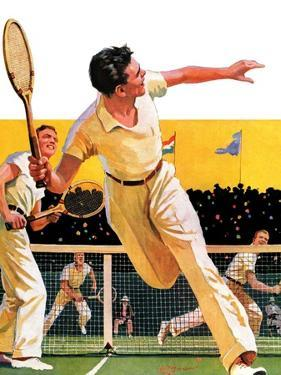 """Doubles Tennis Match,""September 5, 1936 by Maurice Bower"