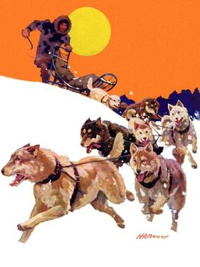 """Eskimo and Dog Sled,""February 29, 1936 by Maurice Bower"