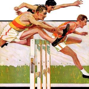 """""""Hurdlers,""""May 4, 1935 by Maurice Bower"""