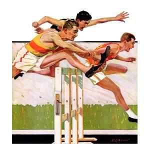 """Hurdlers,""May 4, 1935 by Maurice Bower"