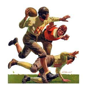 """""""Quarterback Pass,""""October 12, 1935 by Maurice Bower"""
