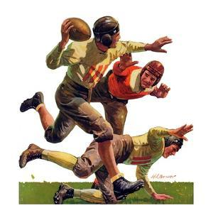 """Quarterback Pass,""October 12, 1935 by Maurice Bower"