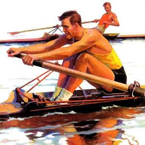 """""""Sculling Race,""""August 15, 1936 by Maurice Bower"""