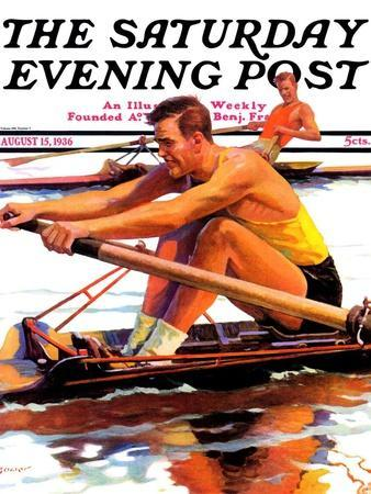 """""""Sculling Race,"""" Saturday Evening Post Cover, August 15, 1936"""