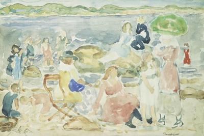 A Day at the Beach by Maurice Brazil Prendergast