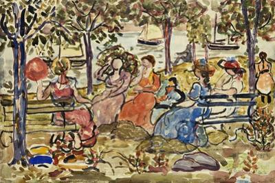 Afternoon in the Park by Maurice Brazil Prendergast