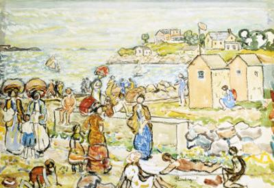 Bathers and Strollers at Marblehead by Maurice Brazil Prendergast