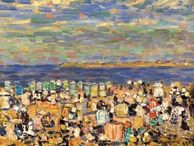 Beach at St. Malo, C. 1907 by Maurice Brazil Prendergast