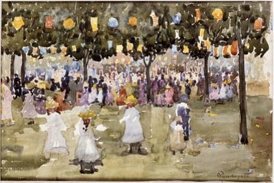 Central Park, New York City, July 4th by Maurice Brazil Prendergast