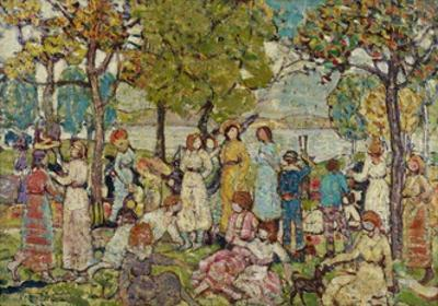 Holidays, C.1920 by Maurice Brazil Prendergast