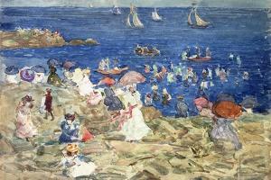 New England Beach Scene, C.1896-97 by Maurice Brazil Prendergast