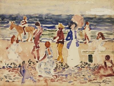 On the Beach, C.1920-23 by Maurice Brazil Prendergast