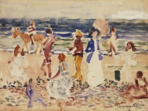 On the Beach, C.1920-23 by Maurice Brazil Prendergast