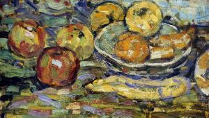 Still Life with Apples and a Bowl by Maurice Brazil Prendergast