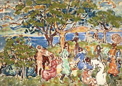 The Picnic, C.1912-15 by Maurice Brazil Prendergast
