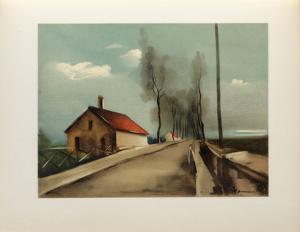 1926 - La Route De Brezolles by Maurice De Vlaminck