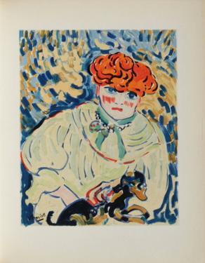 Femme au Chien, 1906 by Maurice De Vlaminck