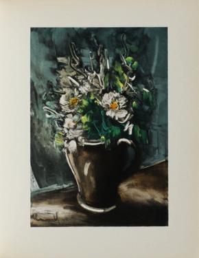 Fleurs au Pot de Gres, 1955 by Maurice De Vlaminck